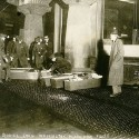 Coffins at the scene of the Triangle Shirtwaist Fire. Courtesy of the Library of Congress.