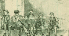 Boys wait in the Children's Aid Society Offices.  Like James Hallahan, many would request placement on a farm in the West. Courtesy of the New York Public Library, http://digitalgallery.nypl.org/nypldigital/id?800975