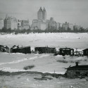 Temporary housing in Central Park for otherwise homeless squatters, 1933. Nat Norman, Museum of the City of New York, Photo Archives.