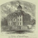 Nineteenth-century print of the New York City Debtors' Prison opened in 1758. Courtesy of the New York Public Library.