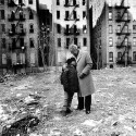 David Dinkins and a young boy in the South Bronx. New York Daily News/Getty Images.