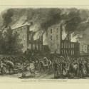 Destruction of the Colored Orphan Asylum. Print. Emmet Collection, Miriam and Ira D. Wallach Division of Art, Prints and Photographs. The New York Public Library, Astor, Lenox and Tilden Foundations.
