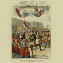 This print from 1895 depicts the Dutch Surrender of New Amsterdam in 1664. Courtesy of the New York Public Library.