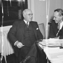 FERA Director Harry Hopkins with New York Governor Herbert H. Lehman, 1935. Courtesy of the Library of Congress.