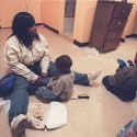 A mother and her children in a Tier II shelter. The Cuomo Commission recommended expanding the number of Tier II shelters run by private nonprofits.