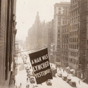 Lynching flag flying at NAACP headquarters in New York City, ca. 1938. Gelatin silver print. NAACP Collection, Prints and Photographs Division, Library of Congress (046.00.00) Courtesy of the NAACP