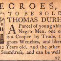 Slave ad from 1768. Neg. no. 77747. Collection of the New-York Historical Society.