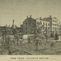 The New York Juvenile Asylum located at 175th Street and 10th Avenue (now Amsterdam Avenue).  Courtesy of the New York Public Library.