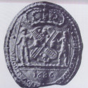 Seal of the colony of New York. New York City had its own seal under its first charter but that has been lost to history. Seal and Flag of the City of New York, John Buckley Pine