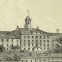 New York City's third almshouse, at Bellevue on the East River. Picture Collection, The New York Public Library, Astor, Lenox and Tilden Foundations.