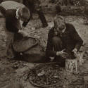Two boys gather scrap metal to contribute to their family's income. Aid to Dependent Children, part of the Social Security Act, was intended to provide financial assistance for the children of poor single mothers. Courtesy of the New York Public Library.
